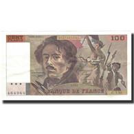 France, 100 Francs, Delacroix, 1990, TTB+, Fayette:69bis1a, KM:154e - 1962-1997 ''Francs''