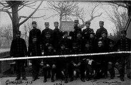 38 GRENOBLE / CARTE PHOTO / 1913 / DOUANIERS / CHASSEURS FORESTIERS / RÉGIMENT GÉNIE / TÉLÉPHONIE / TÉLÉGRAPHIE / DOUANE - Grenoble