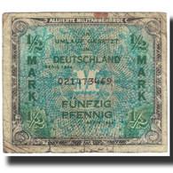 Billet, Allemagne, 1/2 Mark, 1944, KM:191a, TB - [ 5] 1945-1949 : Occupazione Degli Alleati