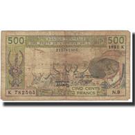 Billet, West African States, 500 Francs, Undated (1981), KM:706Kc, TB - États D'Afrique Centrale