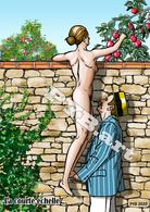 PYB: La Courte échelle [ Nu Nude Femme Leg Up Pommier CPM ] - Dessins