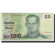 Billet, Thaïlande, 20 Baht, Undated (2002), KM:109, TTB - Thailand