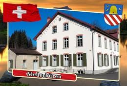 Postcard, REPRODUCTION, Municipalities Of Switzerland, Niederbüren - Cartes Géographiques