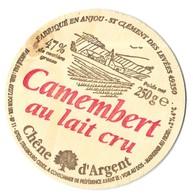 CAMEMBERT CHENE D ARGENT ( BOIS, VUE D UN VILLAGE ) FROMAGERIE MARCILLAT A SAINT CLEMENT DES LEVEES MAINE ET LOIRE - Fromage