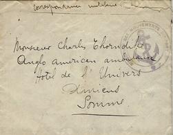 """1915 - Enveloppe En F M Cachet  """" Direction Des Mouvements Du Port + Ancre - Au Dos, Chalutier """" Canada """" Lorient - Storia Postale"""