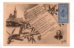 """13 - MARSEILLE . MISTRAL """" Poète Provençal """" . Timbre Notre-Dame De La Garde - Réf. N°10103 - - Erinnophilie"""