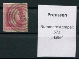 "Preussen: 1 Sgr. MiNr. 6 Nummernstempel 572 ""Halle""  Gestempelt / Used / Oblitéré - Preussen"