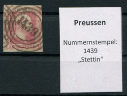 "Preussen: 1 Sgr. MiNr. 6 Nummernstempel 1439 ""Stettin""  Gestempelt / Used / Oblitéré - Preussen"