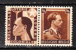 PU96**  Leopold III Col Ouvert - Koloniale Loterij - MNH** - LOOK!!!! - Publicités