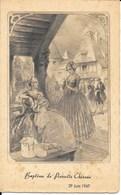 Menu Pour Le Baptême De Pierrette Chéreau 29 Juin 1947 - Menú