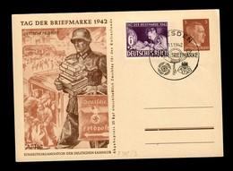 Ganzsache Tag Der Briefmarke 1942, Dresden, Feldpost - Allemagne