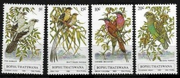 1980Bophuthatswana60-63Birds3,20 € - Specht- & Bartvögel