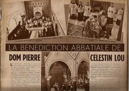 (SAINT-ANDRE-LEZ-BRUGES) «La Bénédiction Abbatiale De Dom Pierre Célestin Lou» Article In «Le Soir Illustre N° 739 (1946 - 1900 - 1949