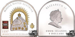 Pièce De 5 Dollar Argent 2007 Magna Mater Austriae, île Cook - Cook