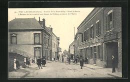 CPA Ivry-la-Bataille, Avenue De La Route D`Ezy, Hotel St-Martin, L`Escalier De Face Conduit Aux Ruines Du Chateau - Ivry-la-Bataille