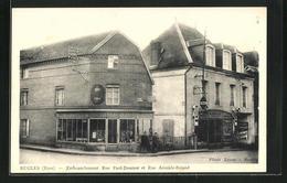 CPA Rugles, Embranchement Rue Paul-Doumer Et Rue Aristide-Briand - Frankreich