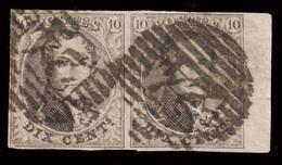 Paire COB N°10 - Bien Margé - Position 39/40 Sur La Planche - 1858-1862 Medallions (9/12)