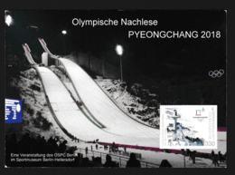 Germany Postcard Meeting Regarding 2018 PyeongChang Olympic Games - Franked W/Internetmarke From Berlin (LC5) - Winter 2018: Pyeongchang