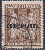 COOK ISLANDS 1951 SG #131w 2sh6d Used CV £48 Wmk Mult. NZ And Stars Inverted - Cookeilanden