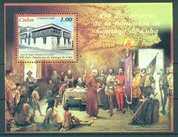 2005 The 490th Anniversary Of The Santiago De Cuba  (MNH)  - Architecture, Tourism - Cuba