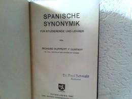 Spanische Synonymik Für Studierende Und Lehrer - Schoolboeken