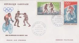 Enveloppe  FDC  1er  Jour    GABON   Jeux  Olympiques  MEXICO   1968 - Estate 1968: Messico