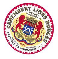 ETIQUETTE De FROMAGE..CAMEMBERT Fabriqué En NORMANDIE ( Calvados 14-B)..Lions Rouges Dupont D'Isigny - Kaas