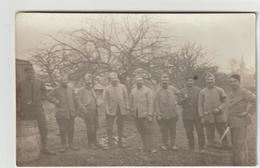 SOUHESMES LA GRANDE    Groupe De Militaires (CARTE PHOTO) 2 Scans - Autres Communes