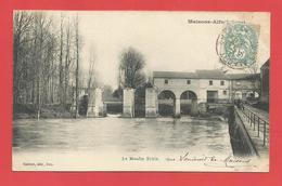 """C.P.A.  ( 94 ) """" MAISONS-ALFORT """"  Le Moulin Brûlé   ( Animée )  .X 2 Photos - Maisons Alfort"""