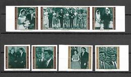 Manama 1971 Kennedy - De Gaulle - Eisenhower IMPERFORATE MNH - Manama