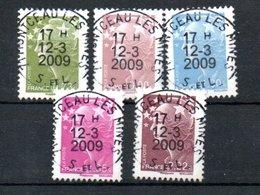 B311 France Avec Oblitérations Rondes N° 4342 à 4346 - Oblitérés