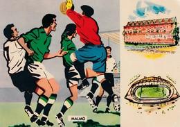 Sweden 1958 Cover;  Football Soccer Fussball Cacio Stadion Malmö 19.6.58 West Germany - Yugoslavia 1:0 Quaterfinal Match - Fußball-Weltmeisterschaft