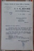 55 ROMAGNE SOUS MONTFAUCON  E.F.G. MICHEL Travaux Publics - Landwirtschaft