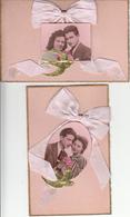 Cartes Anciennes Fantaisies - Amour - Couple - Lot De 2 Cartes Luxe - Couples