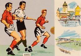 Sweden 1958 Cover;  Football Soccer Fussball Cacio Stadion Boras 15.6.58 Group Stage; England - Austria 2:2 - Fußball-Weltmeisterschaft