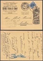 """BELGIQUE COB 285 SUR CARTE PUBLICITAIRE """"PRODUITS RENARD""""DE ROULERS 14/08/1934 (DD) DC-7267 - Belgium"""