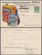"""BELGIQUE COB 254 SUR CARTE PUBLICITAIRE """"COMPAGNIE DES PRODUITS OXI"""" HAREN 29/10/1929  (DD) DC-7278 - België"""
