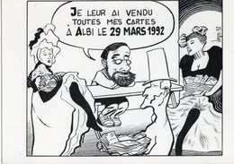 VEYRI  BERNARD  ALBI  CARTE D INVITATION DU 5° SAL0N DES DESSINS DE PRESSE  MARS  1992  -  Tirage Limite 1000 EX - Veyri, Bernard
