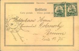 """1902, Ansichtskarte """"Schiebkarren""""ab TSINGTAU Nach Brünn, Österreich - Colonie: Kiautchou"""