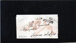 CG19 - Lett. Da Saluzzo X Locarno Al Loco 25/3/1849 - Bollo Stamp. Diritto Nero Con Data + CS 2 R. - 1. ...-1850 Prefilatelia