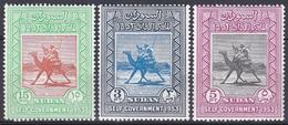 Sudan Soudan 1953 Geschichte History Selbstverwaltung Autonomie Autonomy Kamelreiter Kamele Camels Tiere, Mi. I-III ** - Soudan (1954-...)