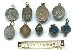 Lot De 9 Médailles Religieuses ND De Lourdes - Non Classificati