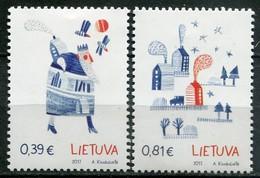 Litauen Mi# 1263-4 Postfrisch MNH - Christmas - Lituanie