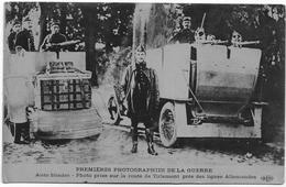 ARMEE BELGE : Auto-blindées Sur La Route De Tirlemont Près Des Lignes Allemandes - 1914 - Guerra 1914-18