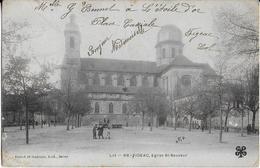 FIGEAC (Lot ):  Eglise St Sauveur- La Place Animée  (1903) - Figeac
