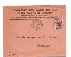 LETTRE A EN TETE DE VILLENEUVE LES MAGUELONNE HERAULT 1959 - 1921-1960: Moderne