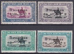 Sudan Soudan 1938 Kultur Culture Kamelreiter Kamele Camels Denkmal Memorial Flugzeug Aeroplane Palme Palms, Mi. 82-5 ** - Sudan (1954-...)