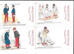 11440 - Lot De 38 CPA Humoristiques Militaires, Publicité Biscuits NANTAIS, DUCASSE Et GUIBAL - Humour