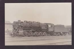 CPA Train Locomotive Gros Plan Carte Photo RPPC à Identifier Non Circulé - Treinen