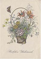 DDR Telegramm Schmuckblatt Télégramme De Bijoux Lx 45 Fleurs De Voeux De Papillon Flowers Butterfly Greeting - [6] République Démocratique